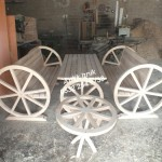 antika tekerden masa takımı