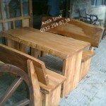 Kütük masa takımı