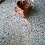 Ahşap Kalp Çiçeklik